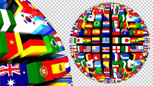Thumbnail for Country Flags Globe Pack (Pack of 2)