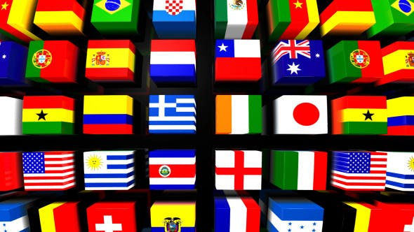 Country Flags Background