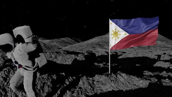Thumbnail for Astronaut Planting Philippines Flag on the Moon