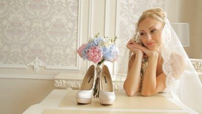 Bride In Honeymoon Suite Preparing