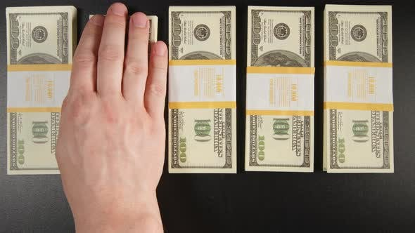 Thumbnail for Male Hand Takes Out Us Dollar Stack