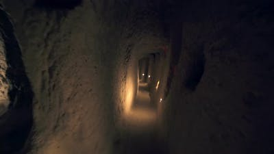 A Long Corridor Connecting the Rooms of the Underground City