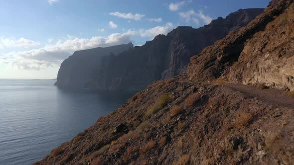 Thumbnail for Aerial View Los Gigantes Cliffs Tenerife Canary Islands Spain
