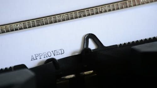 Typing the Word APPROVED