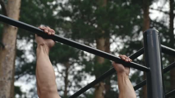 Thumbnail for Man Lifting His Body on a Bar