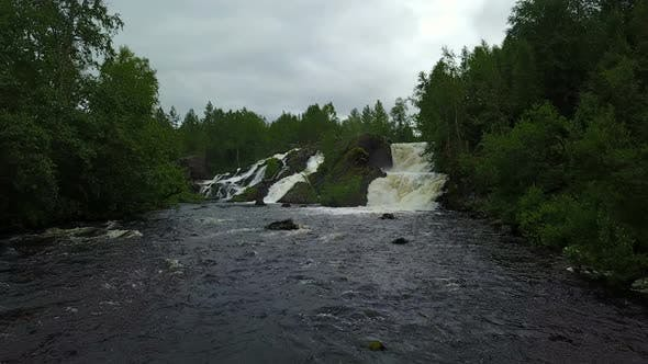Thumbnail for Moving To Waterfall Treshold of Shuoniyoki at Kola Peninsula, Russia