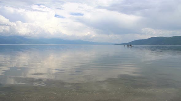 Thumbnail for Horizon Scene on Nature of Tranquil Ohrid Lake in Macedonia