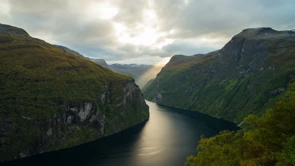 Thumbnail for Geirangerfjord in the Evening