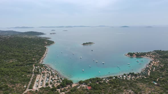 Thumbnail for Aerial Drone Shot of Marina Bay in Adriatic Sea, Croatia