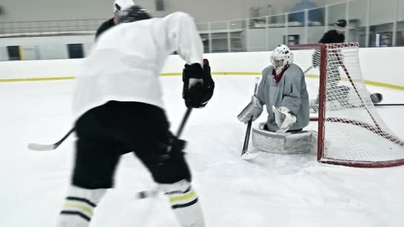 Thumbnail for Ice Hockey Player Trying to Score