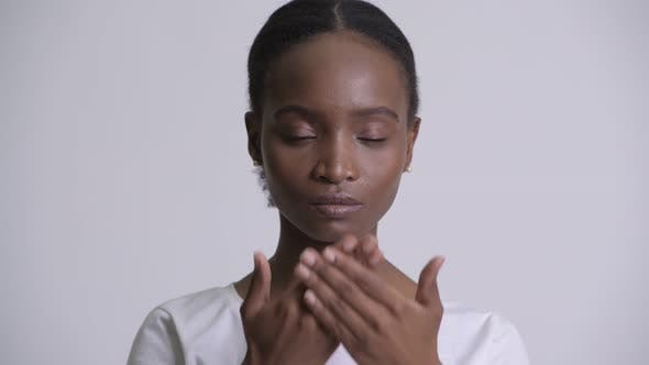 Thumbnail for Young Beautiful African Woman Covering Mouth As Three Wise Monkeys Concept