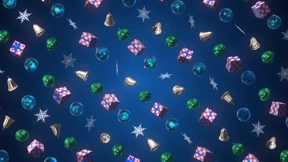 Thumbnail for Christmas Decoration 3 D Background 04