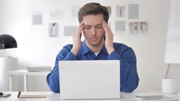 Casual Adult Man with Headache