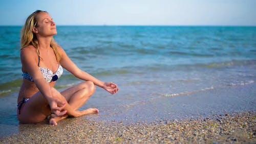 Yoga at Beautiful Sea Shore