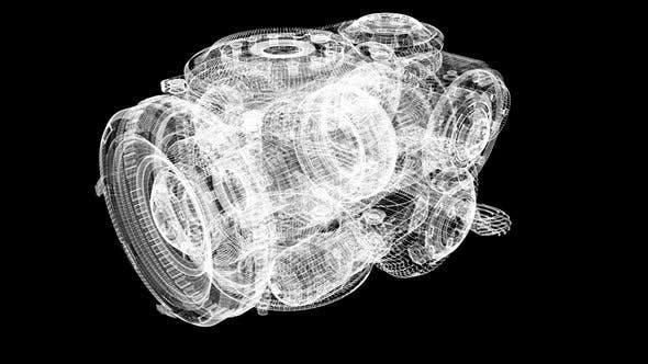 Futuristic Holographic Machine