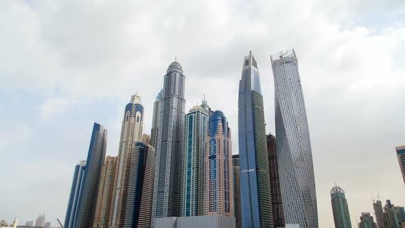 Thumbnail for Dubai Marina Skyscrapers Hyperlapse