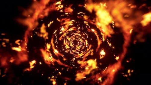 Abstract Fire Tornado 4K 02