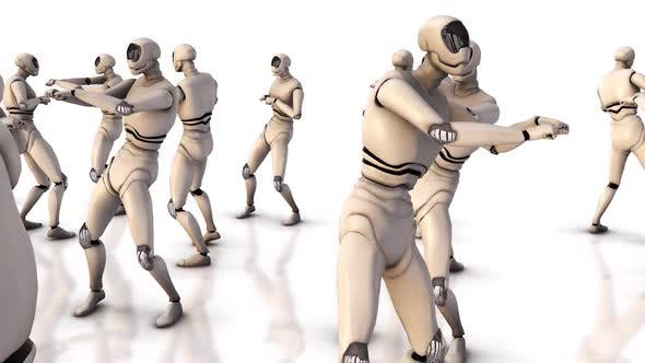Humanoid Robot Dance Cute Robots Dancing Smart Robot Dance Show Robot Performance Dance Party Hd