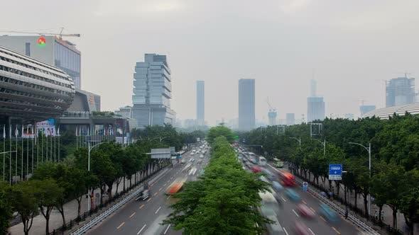 Guangzhou Exhibition Complex Canton Fair Outside View