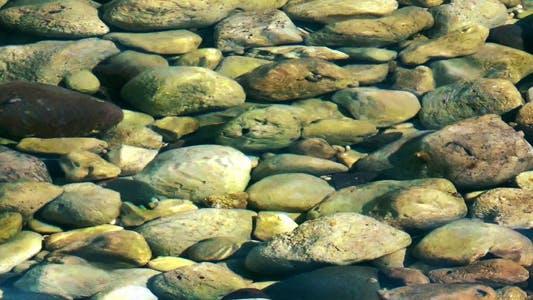 Stone Rocks Under the Sea