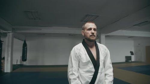 Confident Mixed Martial Arts Fighter