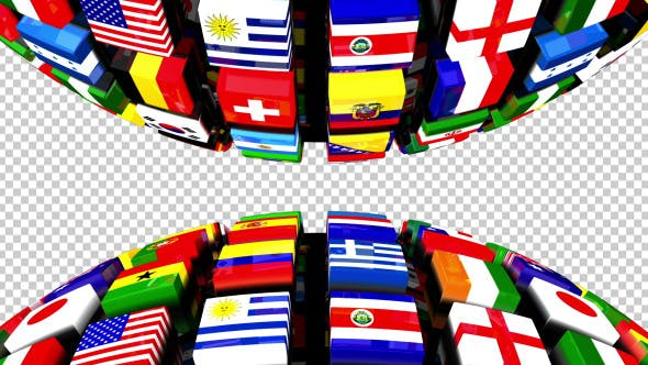 Thumbnail for Country Flags Globe Double