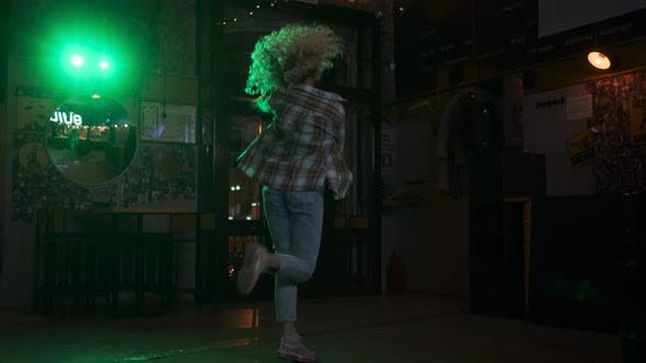 Thumbnail for Carefree Crazy Girl Dancing on the Dance Floor in a Nightclub