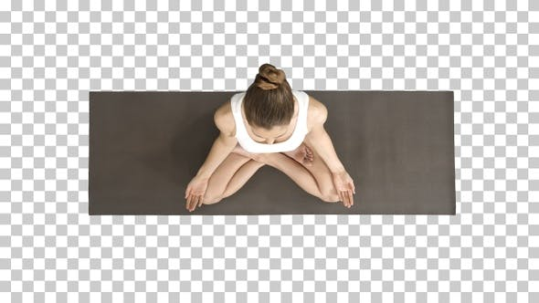 Thumbnail for Peaceful Blond Yoga Woman Putting Hands Together and Meditating