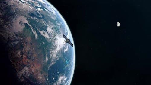 Military Satellite in Earth Orbit