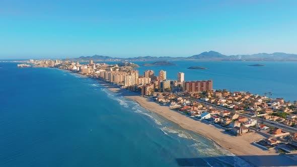 Thumbnail for Aerial View. Panoramic View La Manga Del Mar Menor, Cartagena, Murcia, Spain