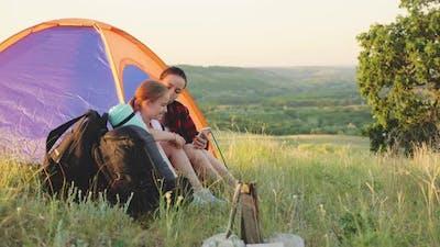 Family Enjoying Camping Holiday