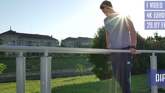 Thumbnail for Dips Exercise On The Parallel Bar
