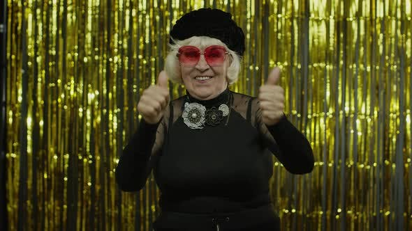 Thumbnail for Happy Senior Old Woman Shouting, Celebrating Success, Winning Lottery, Goal Achievement Concept