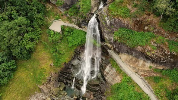 Thumbnail for Steinsdalsfossen Is a Waterfall in the Village of Steine in the Municipality of Kvam in Hordaland