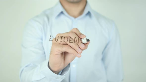 Cover Image for Evidence, Writing On Screen