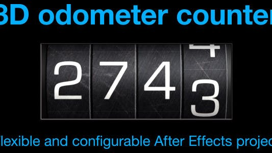 Odometer number counter by CinnamonVisualFX on Envato Elements