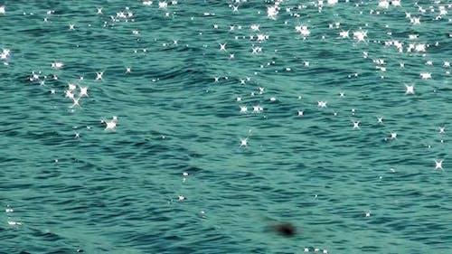 Shining Blue Sea Water