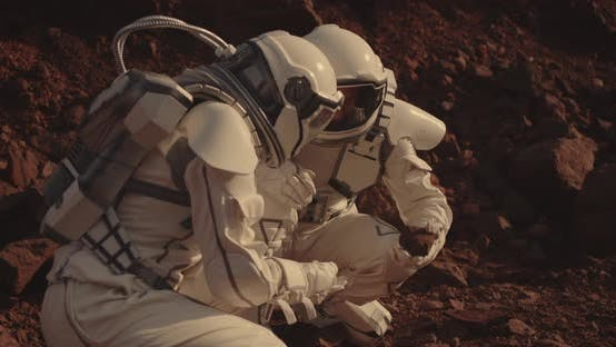Thumbnail for Astronauts Collecting Rock Samples on Mars