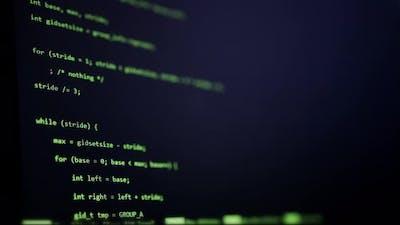 Computer Code Scrolling