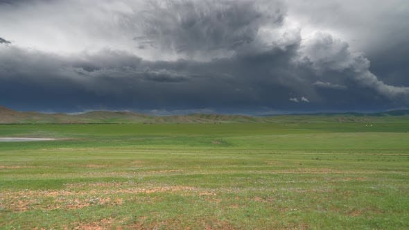 Thumbnail for Storm Clouds on Central Asian Meadow in Mongolia