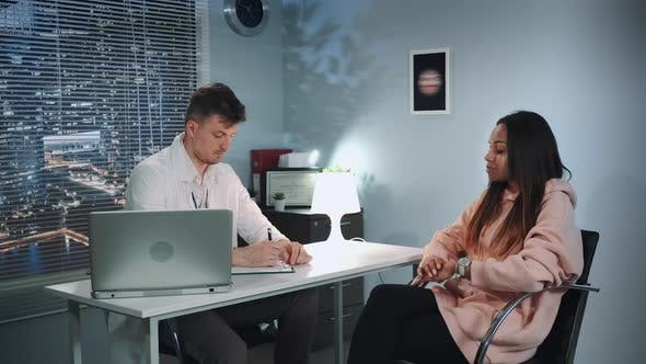 African American Woman Started Crying at Psychologist Therapy Session