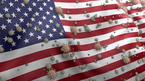 Covid American Flag / Corona USA Flag