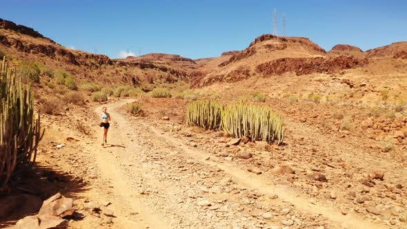 Thumbnail for Fit Young Woman Running In Mexican Desert