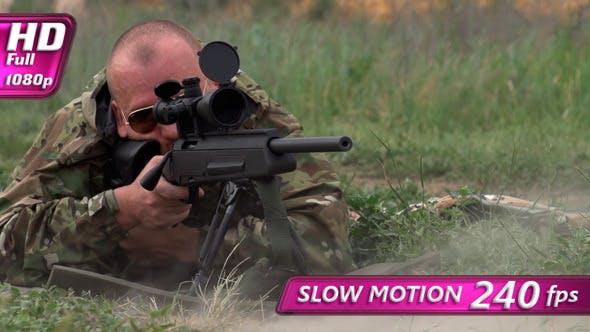 Thumbnail for Sniper Shoots at a Target