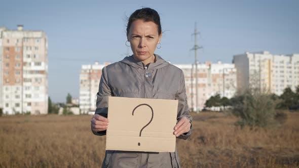 Question Mark. Question Marks on Cardboard.
