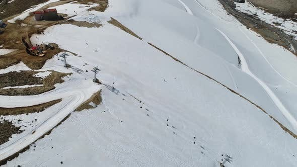 Thumbnail for Snowy Mountains And Ski Center Aerial View 14