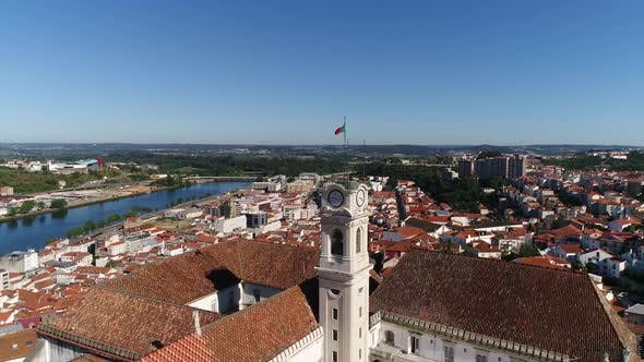 Cover Image for Historic University of Coimbra With River Mondego in the Background