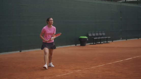 Thumbnail for Motivation and Desire for Success. Concentration of a Tennis Player Before the Decisive Blow