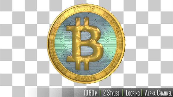 Thumbnail for Bitcoin Virtual Currency Spinning and Rotating