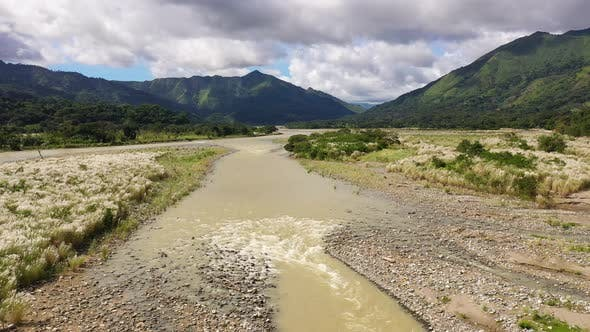 Thumbnail for Beautiful Natural Scenery of River in Southeast Asia Tropical Green Forest with Mountains in